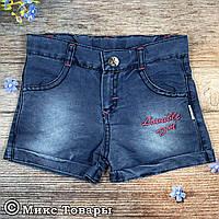 Летние Джинсовые шорты для девочек Размеры: 3,4,5,6 лет (6267)