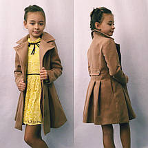 """Детское кашемировое пальто для девочки """"Ninnel"""" с карманами (3 цвета), фото 3"""