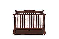 Детская кроватка Верес соня ЛД18 120*60 маятник с ящиком орех