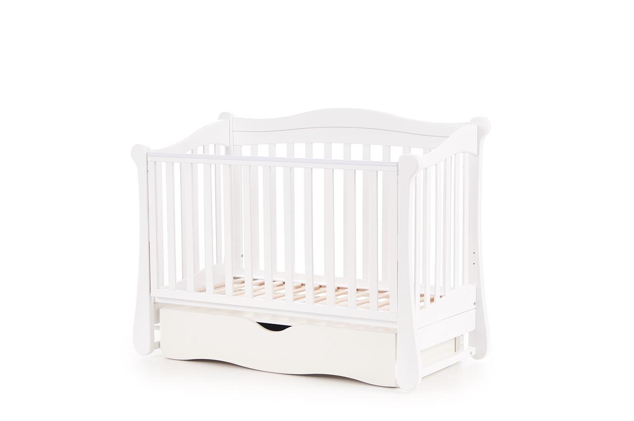 Детская кроватка Верес соня ЛД18 120*60 маятник с ящиком белый
