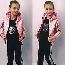 """Детская демисезонная куртка для девочки """"Denver"""" с капюшоном (3 цвета), фото 2"""