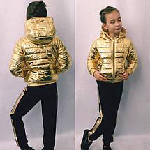 """Детская демисезонная куртка для девочки """"Denver"""" с капюшоном (3 цвета), фото 3"""