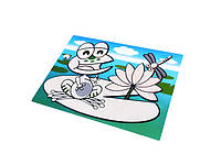 Коврик для рисования водой Fissman ЛЯГУШОНОК 29х21см (пластик)