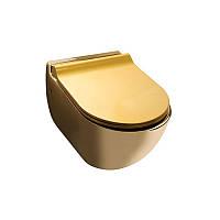 Золотой унитаз подвесной Newarc Modern (3823G)