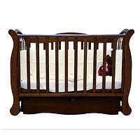 Детская кроватка Верес соня ЛД19 120*60 маятник с ящиком орех