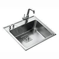 Кухонная мойка Teka из нержавеющей стали, полированная, врезная, 59x51см Frame 1B Plus 40180500 Тека
