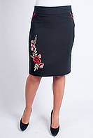 Женская юбка Соломия с цветочным узором