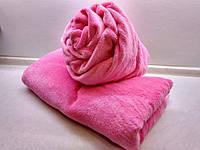 Махровый чехол на кушетку (2-х сторонняя микрофибра) розовый