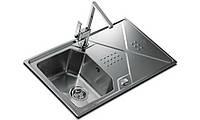 Кухонная мойка Teka из нержавеющей стали, микротекстура, врезная, 86х50см EXPRESSION 1B 1D 86 12126012 Тека, фото 1