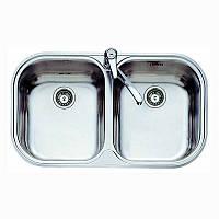 Двойная кухонная мойка Teka из нержавеющей стали, полированная, врезная, 82,8х48,5см STYLO 2B 11107025 Тека, фото 1