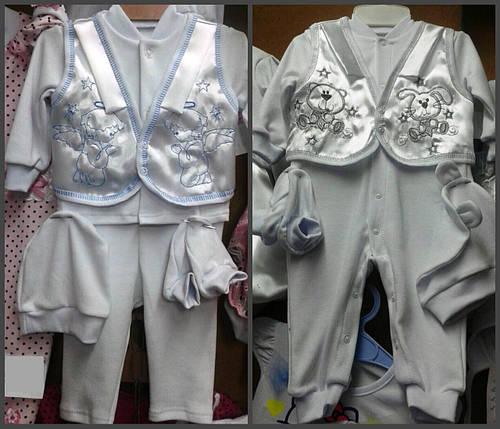 Комбинезон + атласная жилеточка с вышивкой, фото 2