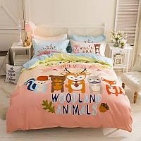 Комплект постельного белья Woodland Animals (двуспальный-евро), фото 1