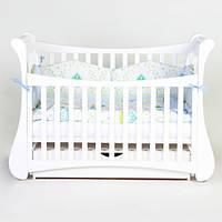 Детская кроватка Верес соня ЛД20 120*60 маятник с ящиком тюльпан белый