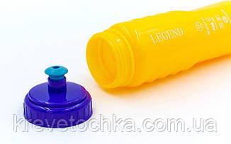 Бутылка для воды спортивная FI-5959-6 750мл MOTIVATION (PE, силикон, оранжевый-синий-голубой), фото 2