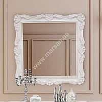 Зеркало Marsan FELICIЕ 970x970 белое + золото/серебро с патиной (Марсан 2-Феличи), фото 1