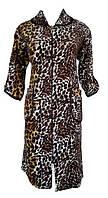 Женский велюровый халат 48 размер на молнии