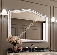 Зеркало в ваную Marsan MELISSA 1250x1000мм, (Марсан 3-Мелисса) белое/слоновая кость+ золото/серебро, фото 1