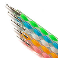 Набор Дотс для дизайна ногтей 5шт DMP-05 цветные