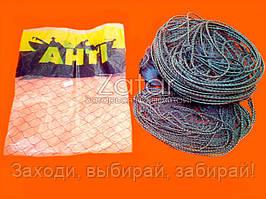 Сеть рыболовная, финская, высота 1.8м, длина 30м, ячея 14мм (Вшитый груз, Анти Финка, одностенная, шнуровая)