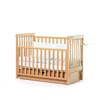 Детская кроватка Верес соня ЛД12 маятник продольный бук