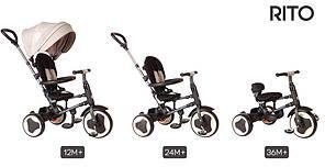 Велосипед трехколесный Sun Baby QPlay Rito Air J01.014.1.2, Бордовый, фото 3