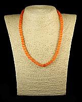Бусы из кошачьего глаза,шар 6мм, оранжевый, фото 1