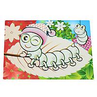 Детский сервировочный коврик для рисования водой Fissman ГУСЕНИЦА (Пластик)