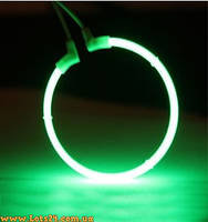 Ангельские Глазки CCFL 75мм, зелёные (Audi, BMW, ВАЗ, Mazda, DRL, ДХО)