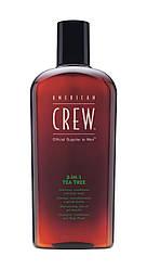 Средство по уходу за волосами и телом Чайное дерево, American Crew 3-in-1 Tea Tree - 450ml