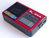 Радиоприемник Golon RX-1315 FM/AM/SW/ MP3/LED фонарик, черно-красный