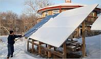 Как правильно чистить панели от снега? Опыт от украинских владельцев солнечных электростанций