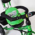 Трех-колесный Велосипед с родительской ручкой Lex-007 (10/8 AIR wheels) Green, фото 5