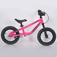 """Беговел 12""""(BRN)B-2 Pink Air wheels"""
