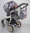 Детская коляска 2 в 1 AVALON Grey Flower, фото 4