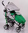 Детская прогулочная коляска трость DolcheMio-SH638APB Green, фото 5