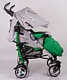 Детская прогулочная коляска трость DolcheMio-SH638APB Green, фото 6