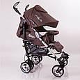 Дитяча прогулянкова коляска трость DolcheMio-SH638APB Brown, фото 4