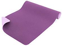 Коврик фитнеса и йоги «LS-3237-06» Pink (TPE) 1730x610x6 мм, фото 2