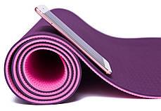 Коврик фитнеса и йоги «LS-3237-06» Pink (TPE) 1730x610x6 мм, фото 3