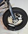 Велосипед трехколесный с родительской ручкой WS862AW-M (светящаяся фара) Надувные колеса12\10, фото 6