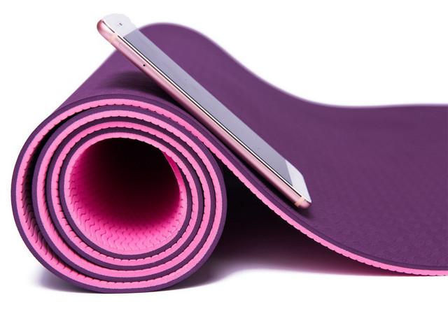Коврик фитнеса и йоги «LS3237-06» Pink (TPE) 1730x610x6 мм