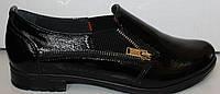 Туфли женские кожаные на низком ходу, кожаные женские туфли от производителя модель БМ71