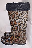 Сапоги женские силиконовые Леопард, Realpaks, размеры с 36 по 41