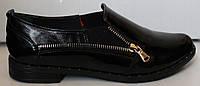 Туфли женские кожаные на низком ходу, кожаные женские туфли от производителя модель БМ71-1Г