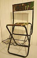 Складной стул со спинкой с держателем для удилищ
