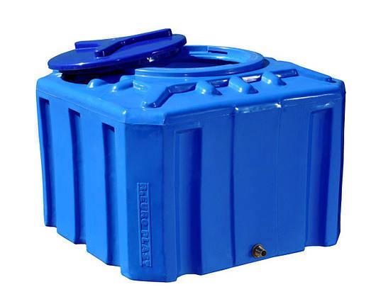 Бесплатная доставка. Бак, бочка, емкость 200 литров пищевая двухслойная квадратная RKД Куб, фото 2