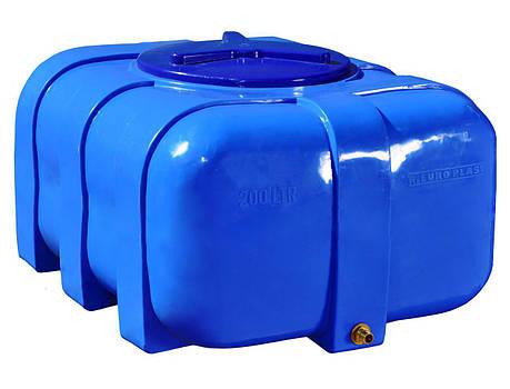 Бесплатная доставка. Бак, бочка, емкость 200 литров пищевая двухслойная овальная RKД, фото 2