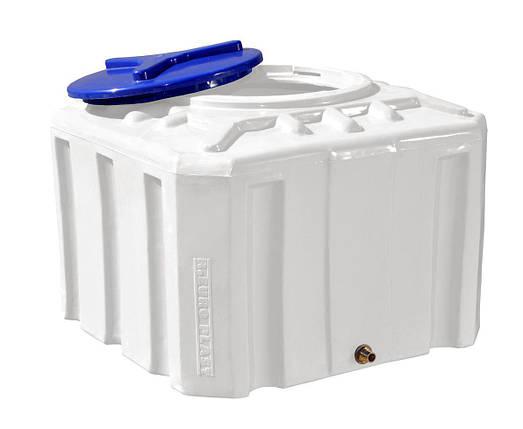 Бесплатная доставка. Бак, бочка, емкость 200 литров пищевая квадратная RKО Куб, фото 2