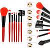 Набор профессиональных кистей для макияжа (7 предметов+чехол) Makeup Tool Brush Set pink (розовый), фото 5