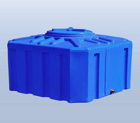 Бесплатная доставка. Бак, бочка, емкость 300 литров пищевая двухслойная квадратная RKД Куб, фото 2